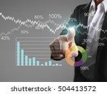 businessman with financial... | Shutterstock . vector #504413572
