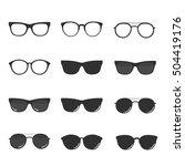 set of glasses and sunglasses...