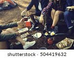 people friendship hangout... | Shutterstock . vector #504419632