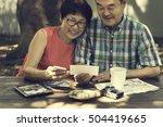 senior couple leisure outside... | Shutterstock . vector #504419665