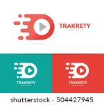 vector fast play button logo... | Shutterstock .eps vector #504427945