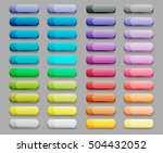 set of colored glass buttons | Shutterstock . vector #504432052