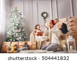 merry christmas and happy... | Shutterstock . vector #504441832