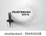 paint brushes from particles.... | Shutterstock .eps vector #504442438