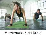 female leads cross fit power... | Shutterstock . vector #504443032