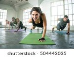 strong powerful intense fit... | Shutterstock . vector #504443035