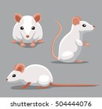 cute fancy mouse poses cartoon... | Shutterstock .eps vector #504444076