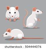 Cute Fancy Mouse Poses Cartoon...