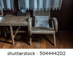 a small antique wooden chair... | Shutterstock . vector #504444202