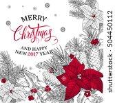 merry christmas.seasonal vector ... | Shutterstock .eps vector #504450112