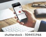 appointment calendar events... | Shutterstock . vector #504451966