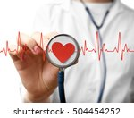 Electrocardiogram  Red Heart...