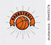 basketball league emblem... | Shutterstock .eps vector #504455176