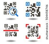 qr code button. qr code symbol. ... | Shutterstock .eps vector #504458746