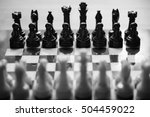 White And Black Chess Pieces O...