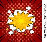 comic speech bubble  blank on... | Shutterstock .eps vector #504460432