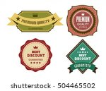 quality guarantee labels...   Shutterstock .eps vector #504465502