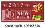 2017 new year banner vietnamese ... | Shutterstock .eps vector #504465556
