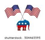 republican political party... | Shutterstock .eps vector #504465595