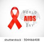 world aids day. | Shutterstock .eps vector #504466408