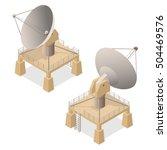 satellite dish isometric view.... | Shutterstock .eps vector #504469576