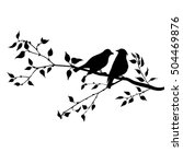 vector silhouettes of birds at... | Shutterstock .eps vector #504469876
