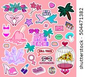 quirky mega set of patches ... | Shutterstock .eps vector #504471382