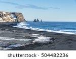 reynisfjara basalt beach  view... | Shutterstock . vector #504482236