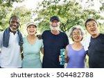 meet up retired wellbeing... | Shutterstock . vector #504482788