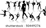 set dance girl ballet... | Shutterstock .eps vector #50449276