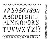 hand drawn sketch alphabet and... | Shutterstock .eps vector #504497062
