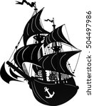 pirate ship | Shutterstock .eps vector #504497986