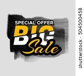 grunge ink design big sale... | Shutterstock .eps vector #504500458