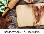 blank vintage recipe cooking... | Shutterstock . vector #504504346