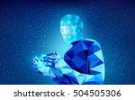 scientific analysis  futuristic ... | Shutterstock .eps vector #504505306