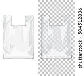 set of white blank foil food or ... | Shutterstock .eps vector #504512836