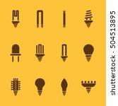 the light bulb icon  set of 12...   Shutterstock .eps vector #504513895
