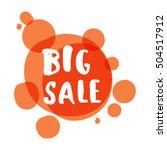 flat color circle design big... | Shutterstock .eps vector #504517912