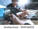 startup programming team.... | Shutterstock . vector #504518032