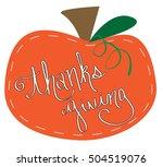 thanksgiving pumpkin | Shutterstock . vector #504519076