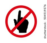 no touch finger icon vector | Shutterstock .eps vector #504519376