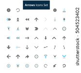 blue and gray arrow icon set | Shutterstock .eps vector #504523402