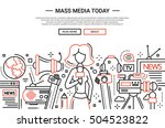 illustration of vector modern... | Shutterstock .eps vector #504523822