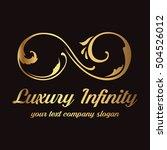 luxury infinity logo | Shutterstock .eps vector #504526012