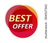 sale sticker  illustration.... | Shutterstock . vector #504527362