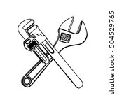 wrench tool icon image    Shutterstock .eps vector #504529765