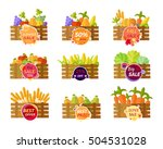 collection of stickers for... | Shutterstock . vector #504531028