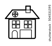 house pictogram icon image  | Shutterstock .eps vector #504531595