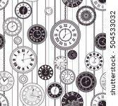 vector vintage clock dials... | Shutterstock .eps vector #504533032