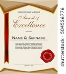 award of excellence with wax... | Shutterstock .eps vector #504536776